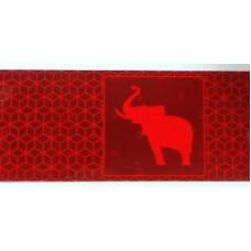 1141818 Schmitz Лента световозвращающая красная с логотипом Schmitz